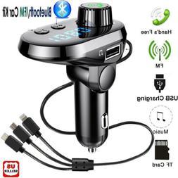 Wireless In-Car BT FM Transmitter MP3 Radio Adapter Car Fast