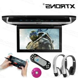 """Car 10"""" Flip Down DVD Video Player Game Roof Monitor HD Scre"""