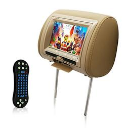 """Upgraded 2018 7"""" Car Headrest Monitor - DVD Player USB LCD"""