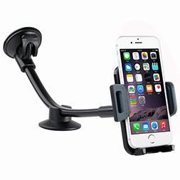 Car Phone Mount DHYSTAR Flexible Long Arm Windshield Car Hol