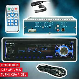 Car Stereo Audio In-Dash FM Aux Input Bluetooth Receiver SD
