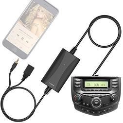 Car AUX Adapter with USB Charger for Honda Civic CRV Accord