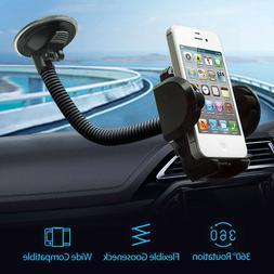 360° Car Windshield Mount Holder Bracket Cradle For iPhone