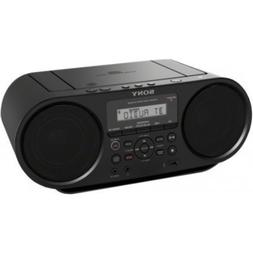 Sony CD Boombox with Bluetooth and NFC Black with 10ft 3.5mm