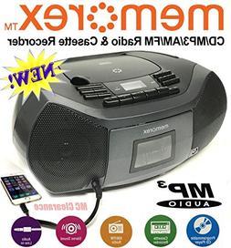 Memorex CD/Cassette Recorder MP3 AM/FM FlexBeats Boombox MP3