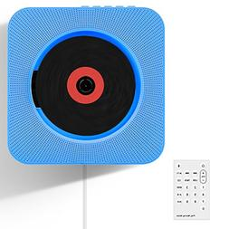 CD Player, Wrcibo Wall Mountable Bluetooth CD Player Speaker