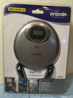 Memorex CD Player AM/FM Runner MD6883SIL Digital Headphones