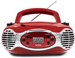 Akai CE2200R CD Boombox FM PLL Radio, Red