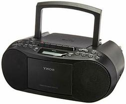 Sony CFDS70-BLK CD/MP3 Cassette Boombox Home Audio Radio, Bl