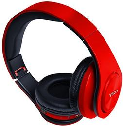 Coby CHBT-611-RED Valor Folding Bluetooth Stereo Headphones,
