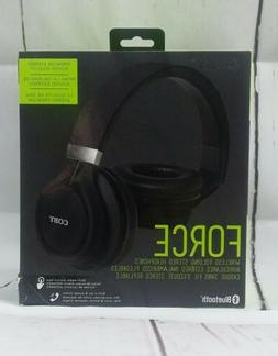 Coby CHBT-612-BLK Force Folding Bluetooth Headphones with Bu