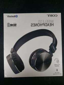 c3e49da90fc Coby CHBT-800-BLK Wireless Metal Folding Headphones