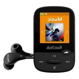 SanDisk Clip 16GB Black Sport Plus MP3 Player FM Radio Bluet