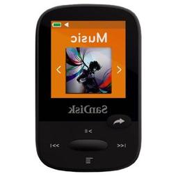 SanDisk Clip Sport 8GB MP3 Player, Black With LCD Screen and