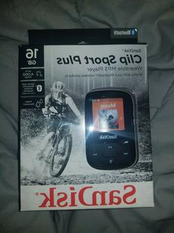 SanDisk Clip Sport Plus MP3 Player - Black , 16 GB