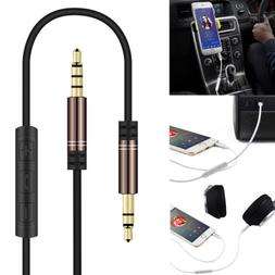 Control Talk Headphone 3.5mm Male AUX Audio Cable Lead With