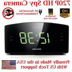 HD 720P Covert Alarm Clock Radio Spy Camera Hidden Nanny Cam
