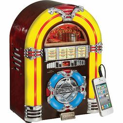 Crosley CR11CD Jukebox CD Player with Authentic Neon Lightin