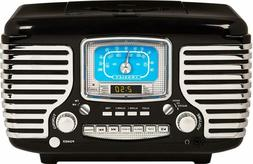 Crosley CR612D-BK Corsair Retro AM/FM Dual Alarm Clock Radio