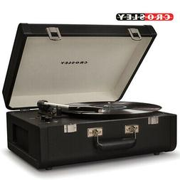 Crosley CR6252A-BK Portfolio Portable Turntable with Bluetoo