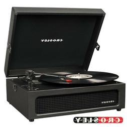 Crosley CR8017A-BK Voyager Vintage Portable Turntable with B