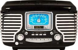 crosley cr612d bk corsair retro am fm