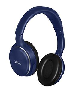 Coby CVH-808-NVY Revolve Stereo Headphones with Built-In Mic