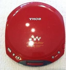 Sony D-E220 Red ESPMAX CD-Walkman Personal CD Player Red Col