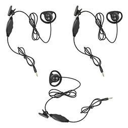 D Shape Soft Ear Hook Earpiece Receiver/Listen Only Earpiece