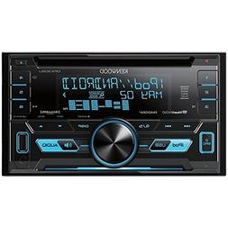 Kenwood Ddin CD Player w/USBSatRdySWIVar. Clr