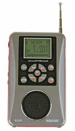 DEGEN DE28 Rechargeable AM FM ShortWave Radio Voice Recorder
