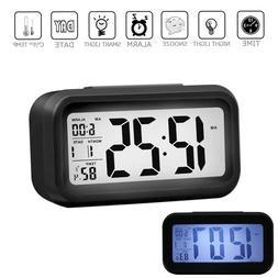Digital LED Alarm Clock Snooze Back Light Time Calendar Ther
