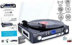 DIGITNOW Bluetooth Record Player with Stereo Speakers, Turnt