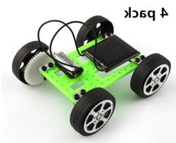 ANSTER 4 Pack DIY Assemble Toy Set Solar Powered Car Kit Sci
