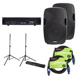Gemini DJ AS-12 12-inch Passive PA Speakers Bundle