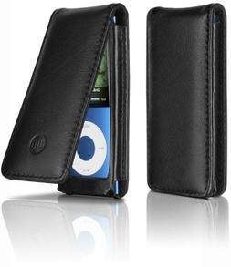 PHILIPS DLA66073D/10 iPod Nano 4G 5G Leather Black Flip Case