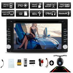 Double 2DIN In Dash GPS Navi Car DVD Player Bluetooth Auto S
