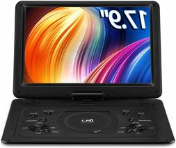 【Upgraded】 DR.Q 14.1'' Portable DVD Player with 5 Hours