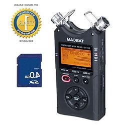 Tascam DR-40 2015 Version 2 Linear PCM Recorder with 4GB SD