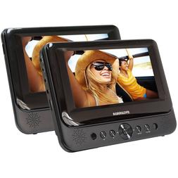 "Sylvania 7"" Dual Screen Portable DVD Player Black"