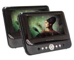 "Proscan 7"" Dual Screen Prtbl DVD Player"