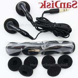 2 GENUINE SanDisk Earphone Earbuds Original In-Ear Headphone