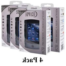 4 Pack Eclipse USB 2.0 2.8V 4GB Digital Touchscreen MP3 Medi
