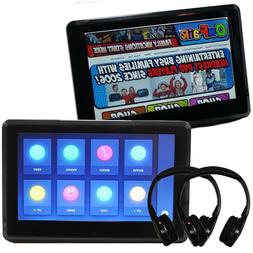 "Autotain EDGE 10"" Active Headrest Monitor DVD Players Slim"