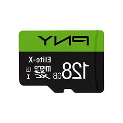 PNY Elite-X 128GB Microsdxc Card, UHS-I, U3, up to 90MB/Sec