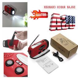 Emergency Solar Hand Crank Dynamo AM/FM/WB Weather Radio LED