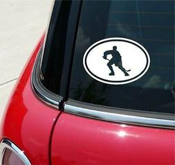 Euro Hockey Stick Puck Player Graphic Decal Sticker Car Wall