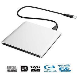 External Blu Ray DVD Drive 3D, Portable USB 3.0 Blu Ray Play