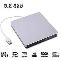 YIKUER External DVD Drive, USB 3.0 Portable Slim External CD