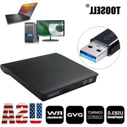 External USB 3.0 DVD RW CD Writer Slim Drive Burner Player R